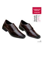 Sapato Soc Confort Amarrar Bertelli Cafe Num Esp