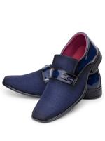 Sapato Social Giolo Verniz Azul