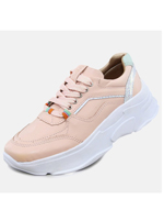 Tênis Couro D Sneaker Chunky De Griffe Flamingo