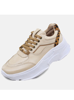Tênis Couro D Sneaker Chunky De Griffe Perola