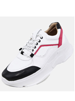 Tênis Couro D Sneaker Chunky De Griffe Bco Pink