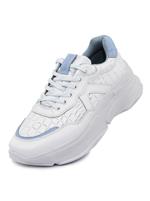 Tênis Couro D Sneaker Chunky De Griffe Branco Azul