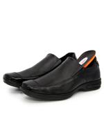 Sapato Social Liso Br2 Confort Gel Couro Preto