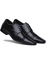 Sapato Social Conforto Amarrar Bertelli Preto
