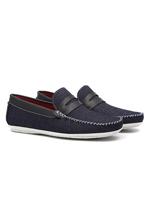 Mocassim Ligth Walk Jeans Detalhe Frontal Azul